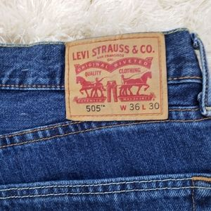 Levi's 505 Relaxed Fit Jeans hemmed 36x27.5